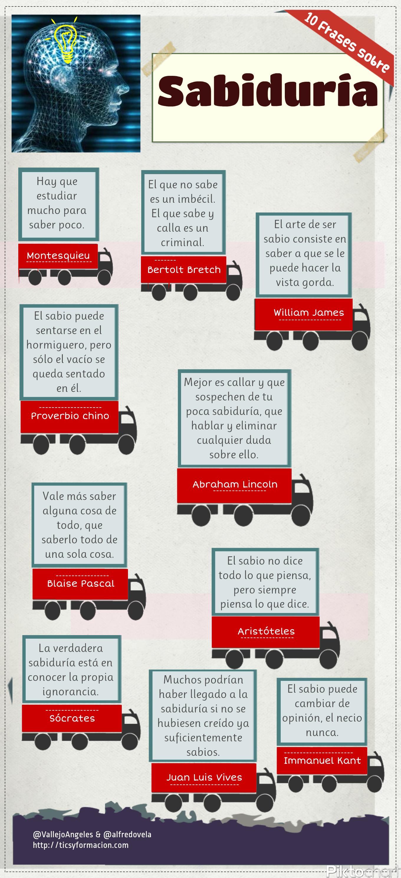10 Frases Célebres Sobre Sabiduría Infografia Infographic