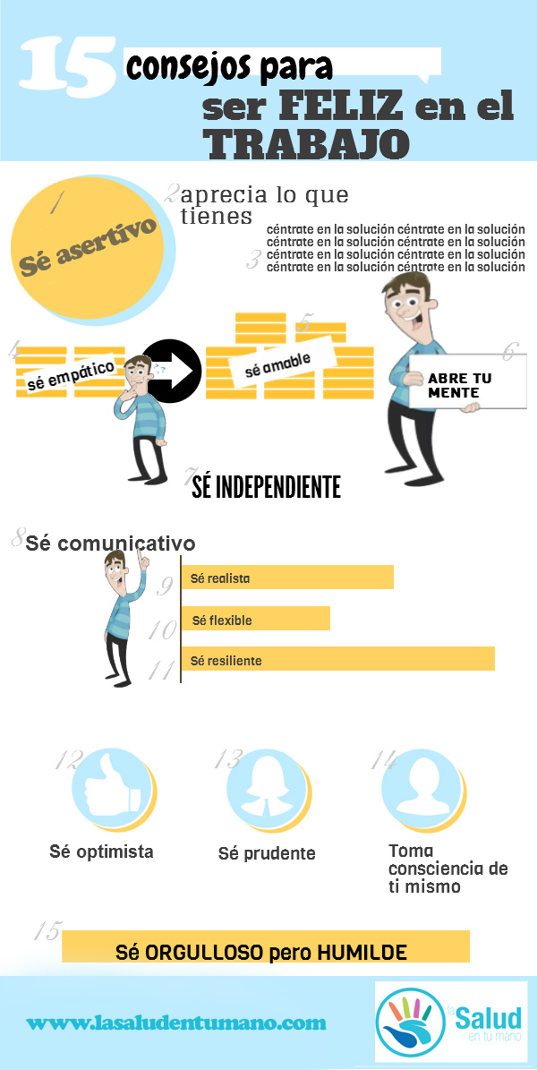 15 Consejos Para Ser Feliz En El Trabajo  Infografia