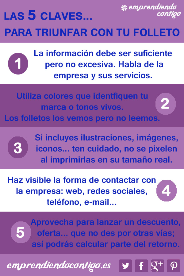 5 Claves para triunfar con un folleto #inforafia #infographic #marketing - TICs y Formación