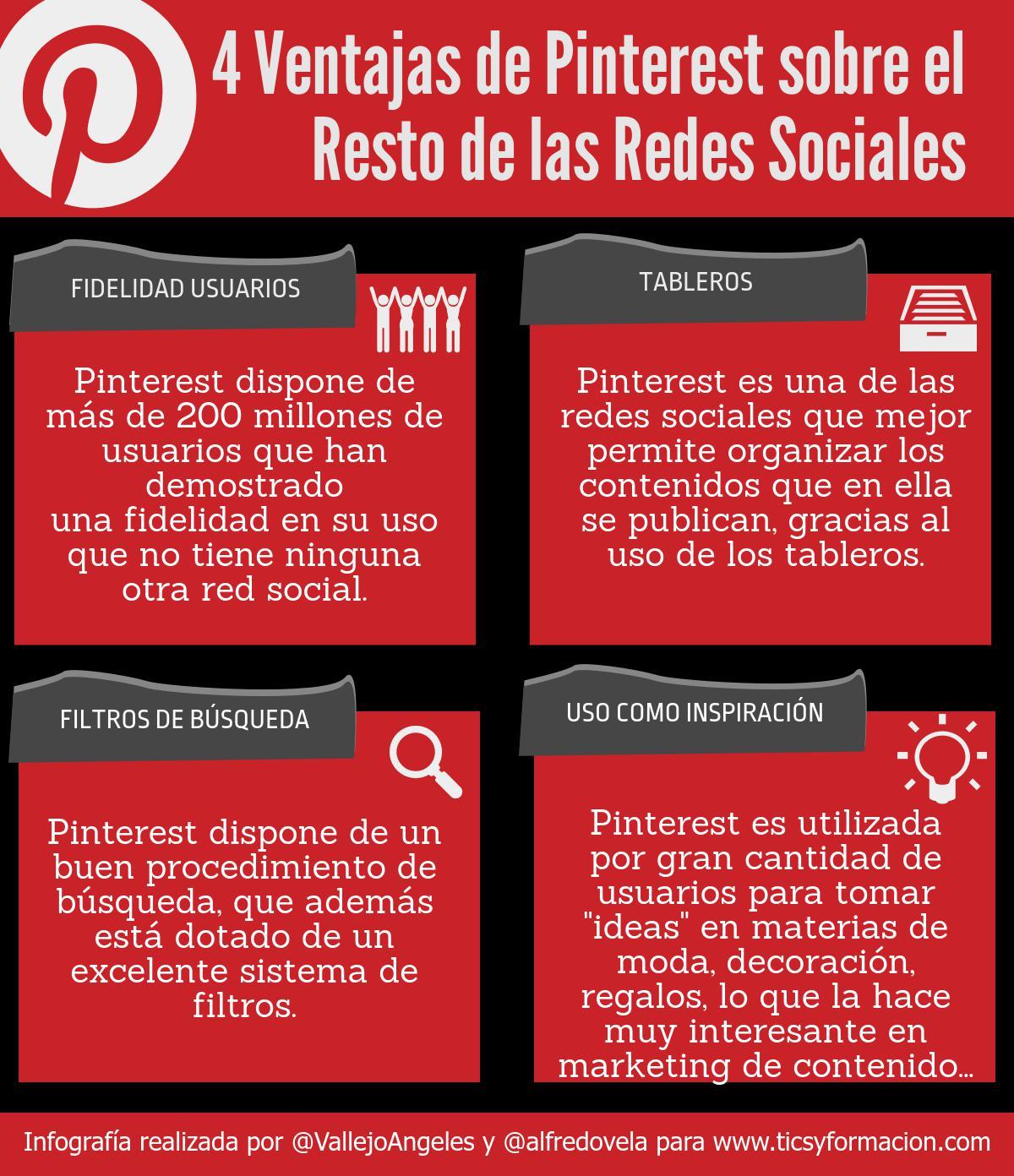 4 ventajas de Pinterest sobre el resto de Redes Sociales